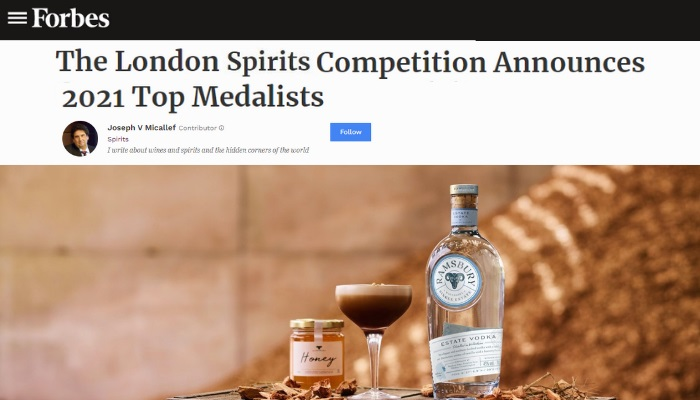 The London Spirits Competition Announces 2021 Top Medalists