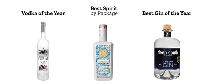 Vodka of the year, Best Spirit by Package and Best Gin of the Year