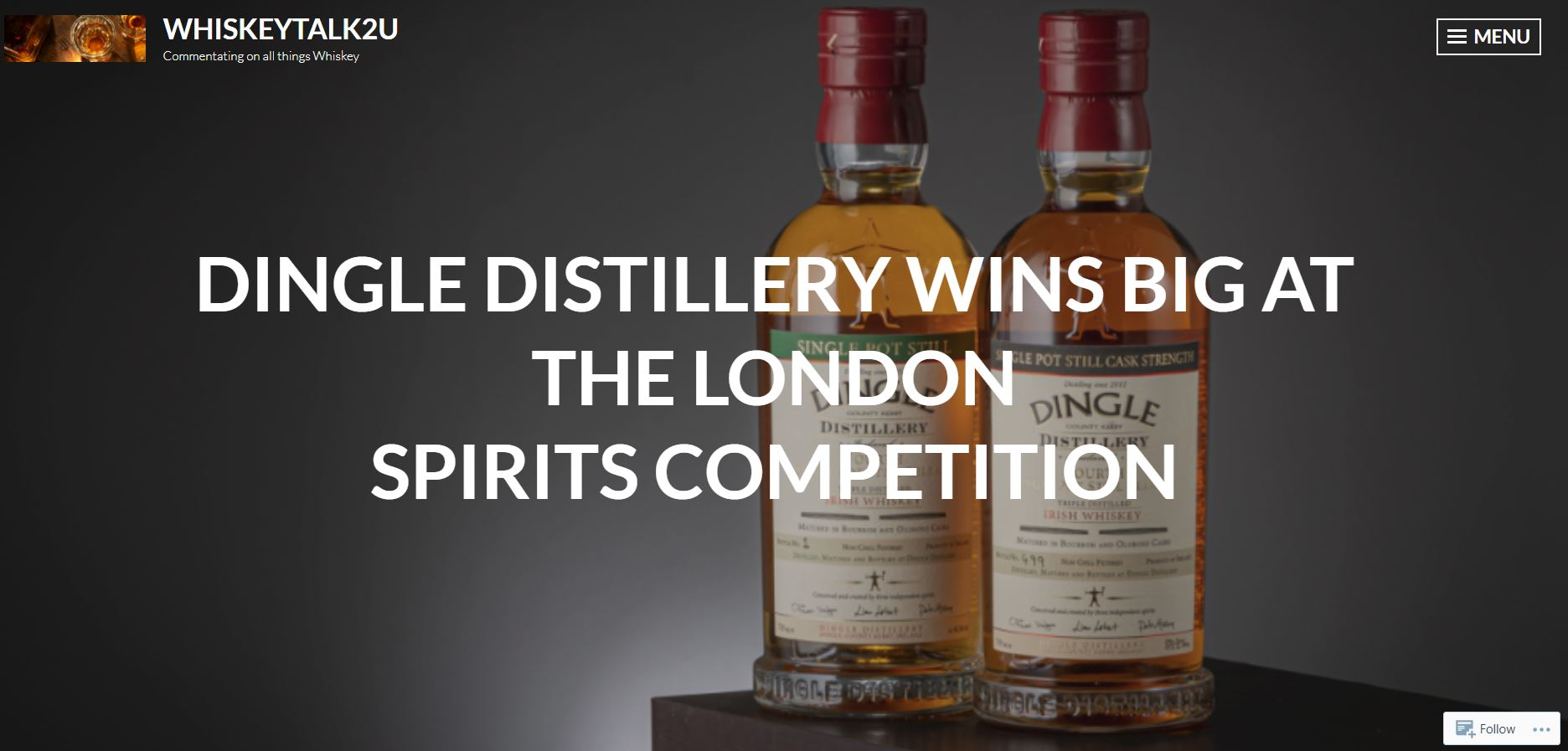 DINGLE DISTILLERY WINS BIG AT THE LONDON SPIRITS COMPETITION