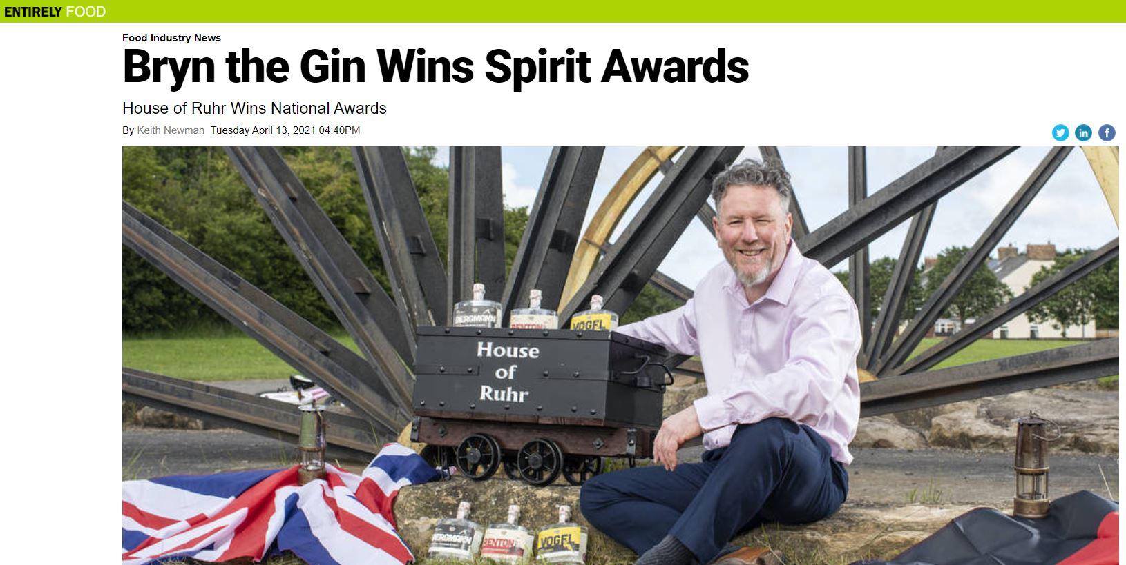 Bryn the Gin Wins Spirit Awards