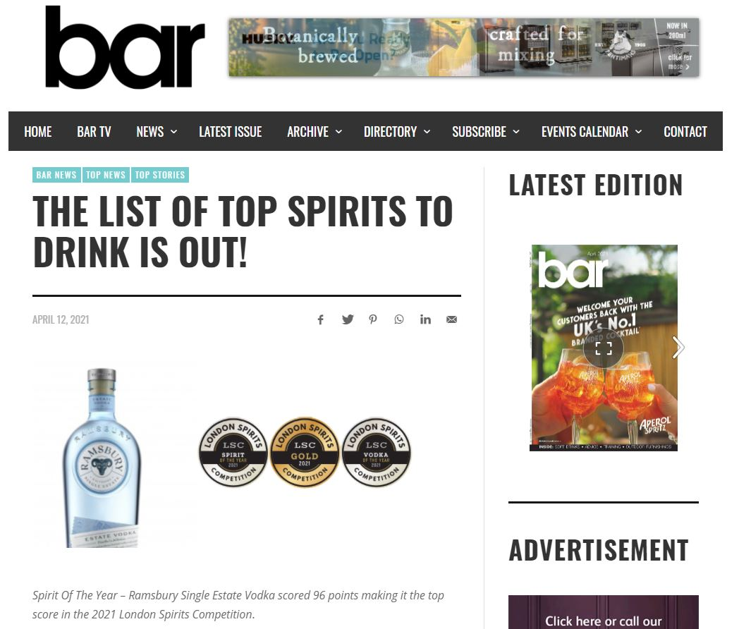 THE LIST OF TOP SPIRITS TO DRINK IS OUT!