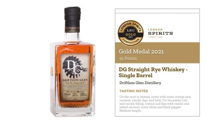 DG Straight Rye Whiskey - Single Barrel