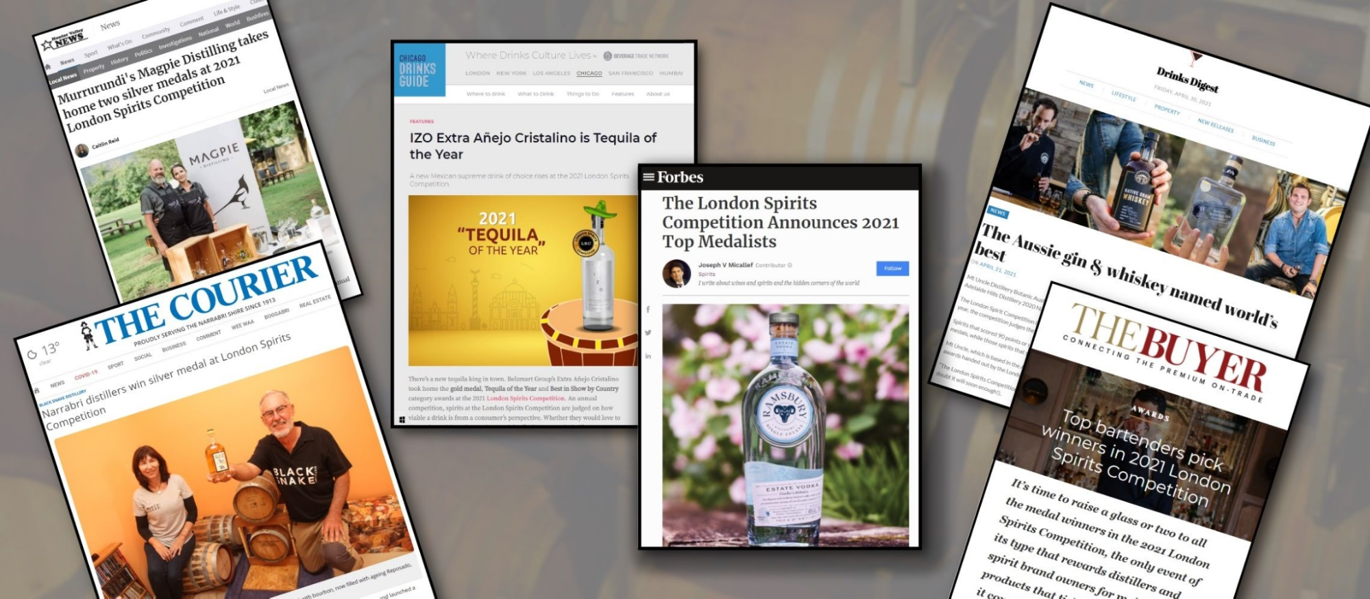 Check the international global coverage of London Spirits Competition