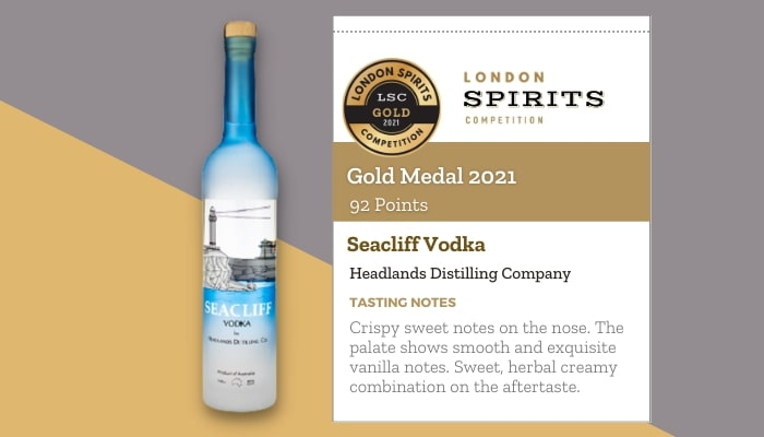 Seacliff Vodka by Headlands Distilling Company