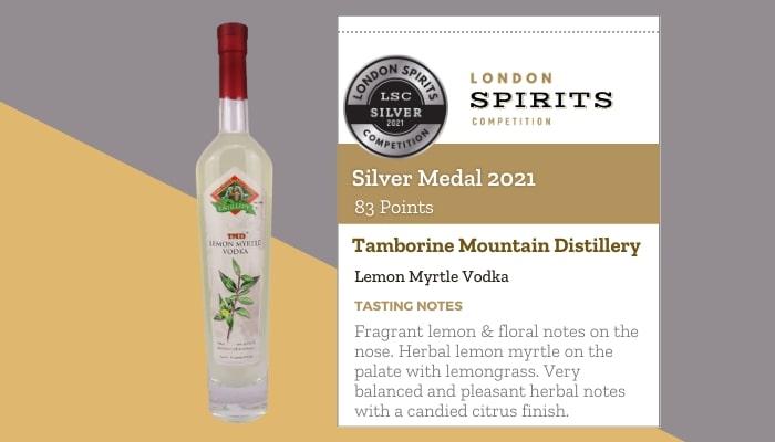 Tamborine Mountain Distillery by Lemon Myrtle Vodka
