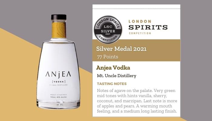 Anjea Vodka by Mt. Uncle Distillery