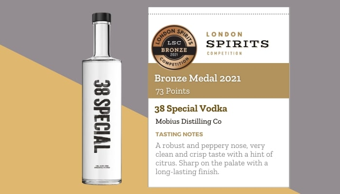 38 Special Vodka by Mobius Distilling Co