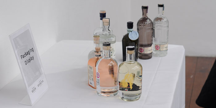 Packaging display at the London Spirits Competition